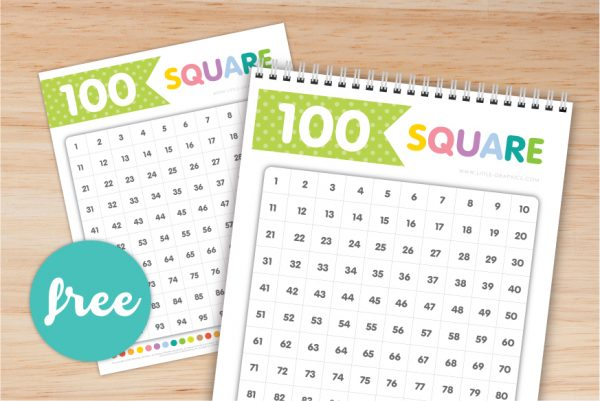 100 Square Chart Free Download