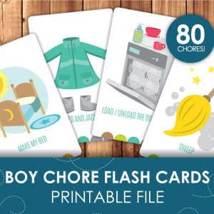 chore flash cards