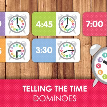 Telling time domino