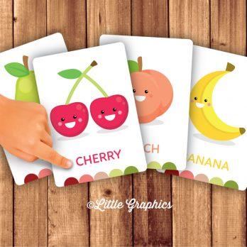 printable fruit flashcards