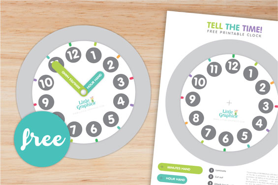 photograph about Free Printable Clock referred to as Absolutely free Printable Clock Very little Graphics
