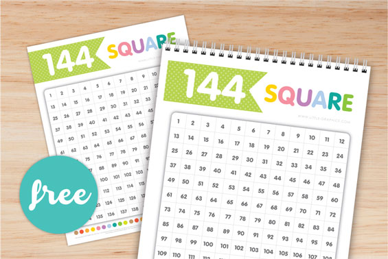 144 Square Chart Free Download