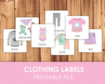 Girl clothing stickers